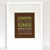 New Arrival Modern Birth Announcement Art Print