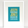 New Arrival Playbill Birth Announcement Art Print