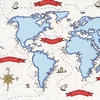 New Arrivals Inc Fabric - Around the World in Blue