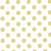 New Arrivals Inc Fabric - Gold Glitter Polka Dot