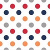New Arrivals Inc Fabric - Polka Dot in Rugby