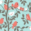 New Arrivals Inc Fabric - Tweetie Bird in Aqua