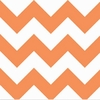 New Arrivals Inc Fabric - Zig Zag Orange