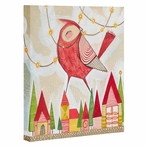 New Bird in Town Wrapped Canvas Art