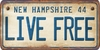 New Hampshire Custom License Plate Art