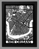 New Orleans Framed City Map