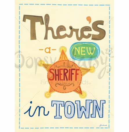 New Sheriff Poster Wall Decal