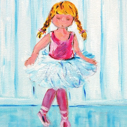 New Slippers Ballerina Hand Painted Canvas
