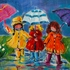 New Umbrellas Hand Painted Canvas
