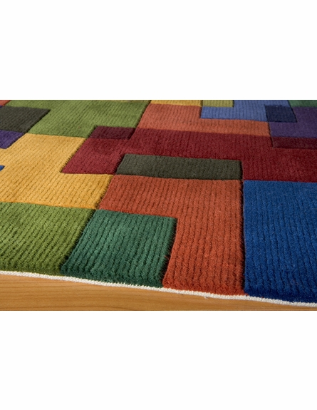 New Wave Color Tile Rug