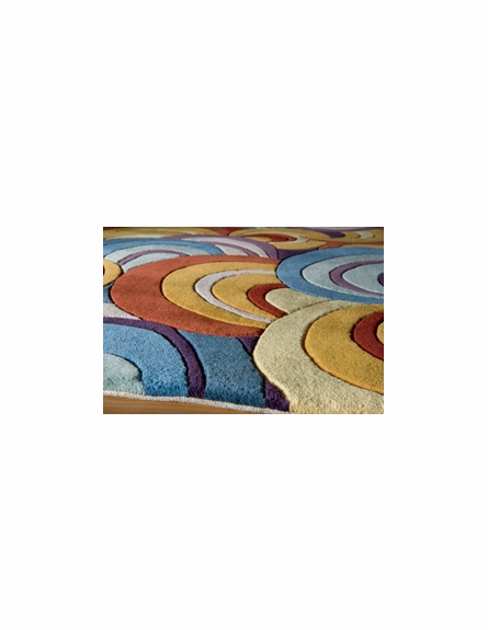New Wave Geometric Swirl Rug