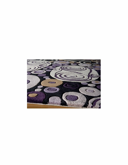 New Wave Modern Shapes Rug in Purple