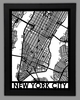 New York City Framed City Map