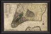 New York Map 1789 White Framed Wall Art
