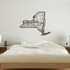 New York Map Wooden Wall Art