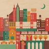 New York Square Jumbo Wood Panel Art Print