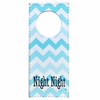 Night Night Aqua Chevron Doorknob Hanger