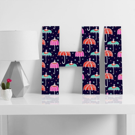 Night Shower Decorative Letters
