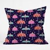 Night Shower Throw Pillow