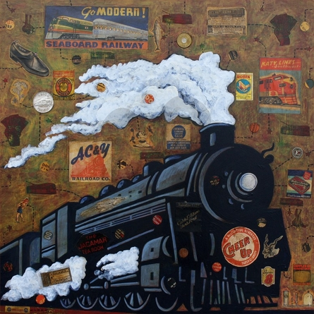 Night Train Canvas Wall Art