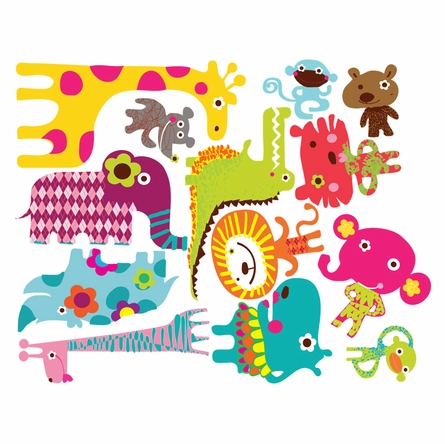 Noah's African Circus Fabric Wall Decals