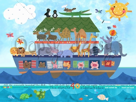 Noah's Ark Canvas Wall Art
