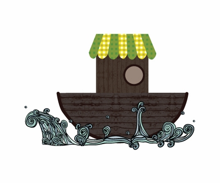 Noah's Ark Fabric Wall Decals