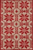 Nordic Star Wool Rug in Crimson