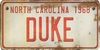 North Carolina Custom License Plate Art