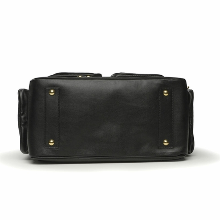 North South Diaper Bag in Black