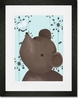 Nosey Posey Blue Framed Art Print