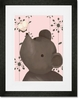 Nosey Posey Pink Framed Art Print