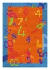 Numbers Rug in Orange and Blue