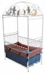 Nursery Rhymes Iron Canopy Crib