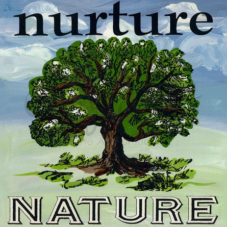Nurture Nature Tree Canvas Wall Art
