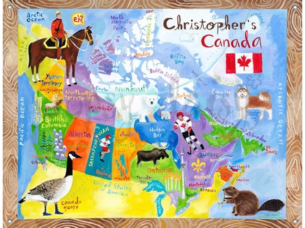 O Canada Canvas Wall Mural