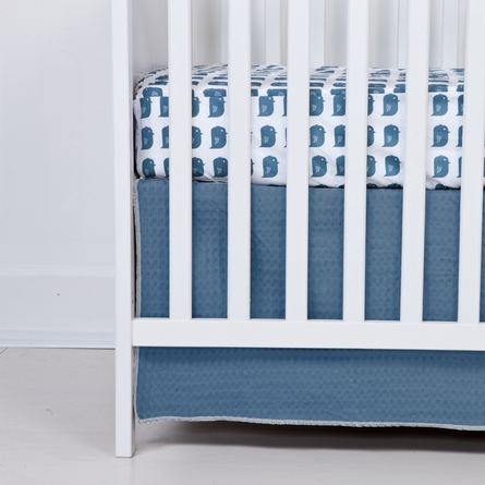 Oasis Bird Fitted Organic Crib Sheet