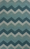 Ocean Blue Chevron Rug