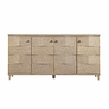 Ocean Breakers Console in Sandy Linen