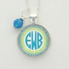 Ocean Tide Diamond Monogram Pendant