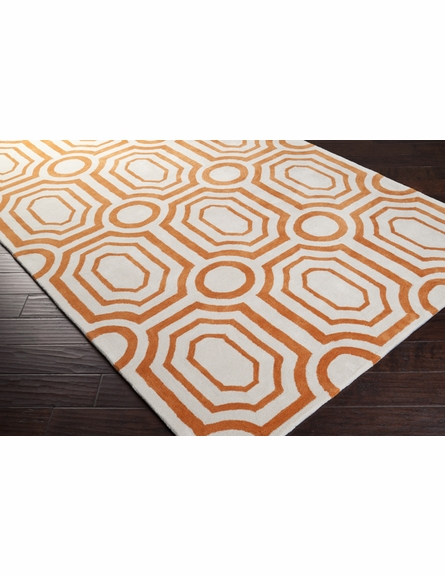 Ochre and White Geometric Hudson Park Rug