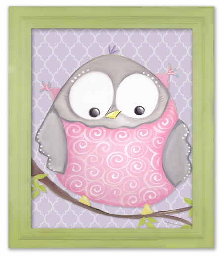 Octavia Owl Framed Canvas Reproduction