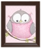Octavia Owl on Pink Framed Canvas Reproduction