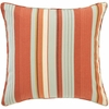 October Stripe Square Pillow