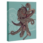 Octopus Bloom Wrapped Canvas Art