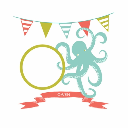 Octopus Personalized Art Print