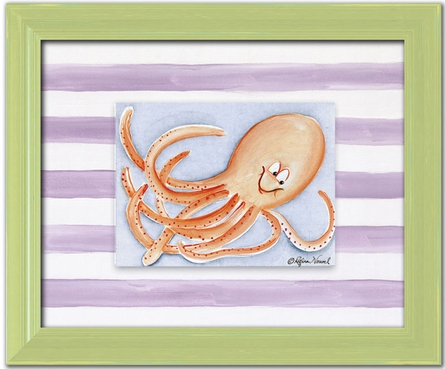 Octopus Personalized Framed Canvas Reproduction