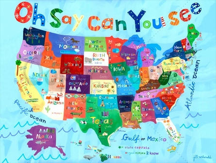 Oh Say Can You See Mural Wall Decal