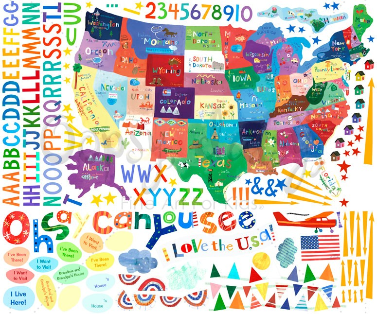Oh Say Can You See Peel & Place Wall Stickers by Oopsy Daisy