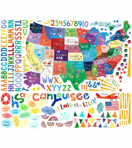Oh Say Can You See Peel & Place Wall Stickers